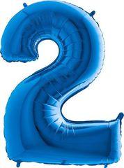 Grabo Nafukovací balónek číslo 2 modrý 102cm extra velký