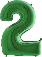 Grabo Nafukovací balónek číslo 2 zelený 102cm extra velký