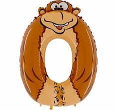 Grabo Nafukovací balónek opice číslo 0 pro děti 102cm