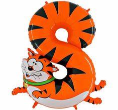 Grabo Nafukovací balónek kočka číslo 8 pro děti 102cm
