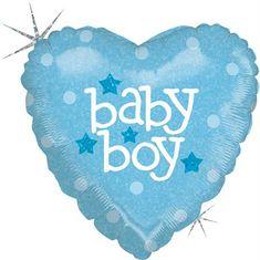 Grabo Nafukovací balónek modré srdce narození kluka 46cm