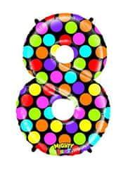 Grabo Nafukovací balónek číslo 8 barevný 102cm extra velký