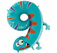 Grabo Nafukovací balónek ještěrka číslo 9 pro děti 102cm