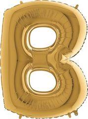 Grabo Nafukovací balónek písmeno B zlaté 102 cm