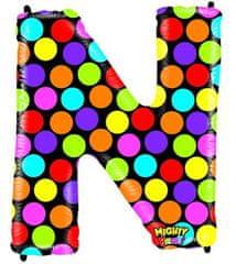Grabo Nafukovací balónek písmeno N barevné 102 cm