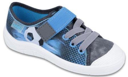 Befado fiú sportcipő focilabdás mintával 25 szürke/kék