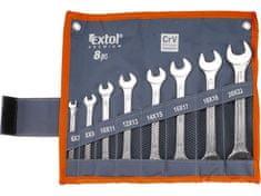 Extol Premium Klíče ploché, sada 8ks, 6x7, 8x9, 10x11, 12x13, 14x15, 16x17, ...