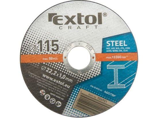 Extol Craft Kotúč rezný na kov, 5ks, 230x1,9mm