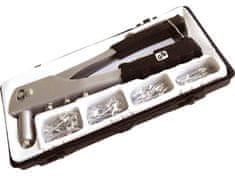 Extol Craft Kleště nýtovací + sada nýtů 60ks, pro trhací nýty 2,4-3,2-4,0-4,8mm z hliníku
