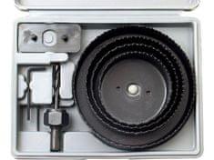 Extol Craft Vrtáky vykružovací korunkové, sada 8ks, max. hloubka vrtu 25mm