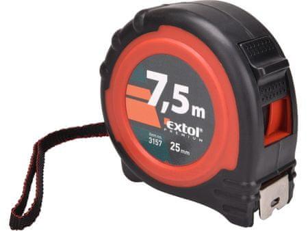 Extol Premium Metr svinovací, 7,5m, š. pásku 25mm
