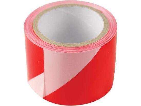 Extol Craft Páska výstražná červeno-bílá, 75mm x 250m, PE