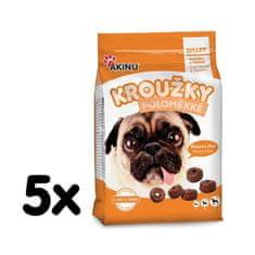 Akinu krążki półmiękkie dla psów 5 x 500 g