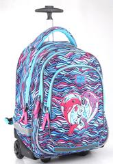 Akta S Cool šolski nahrbtnik na kolesih – delfin