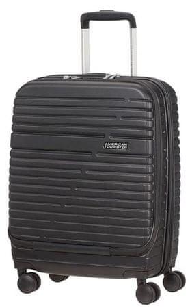 American Tourister potovalni kovček Aero Racer, 55 cm, črn