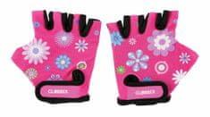 Globber Detské Ochranné Rukavičky Flowers Pink
