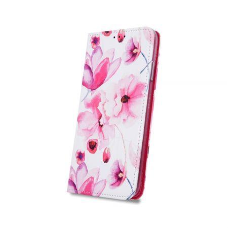 Onasi Flower torbica za Huawei P30 Lite, preklopna, roza