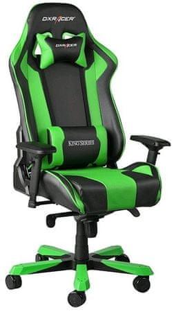 DXRacer fotel obrotowy King KS06/NE, czarny/zielony (KS06/NE)
