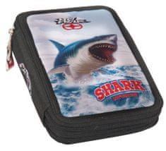 Back Me Up Kétszintes, töltött tolltartó No Fear Ocean Shark