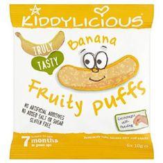 Kiddylicious Ovocné křupky - Banán 6x10g