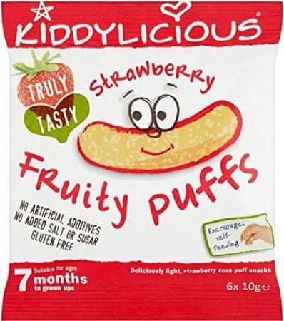 Kiddylicious Ovocné křupky - Jahoda 6x10g