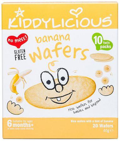 Kiddylicious Rýžové oplatky - Banán - 10 x 4g