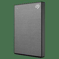 Seagate BackUp Plus Slim prenosni disk, 1 TB, 6,35 cm (2,5''), USB 3.0, siv