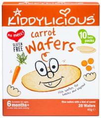 Kiddylicious Rýžové oplatky - Mrkvové - 10 x 4g