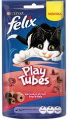 Felix przysmak dla kotów Play Tubes indyk i szynka 8x50 g
