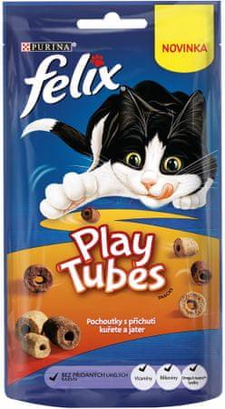 Felix Play Tubes csirke és máj 8x50 g