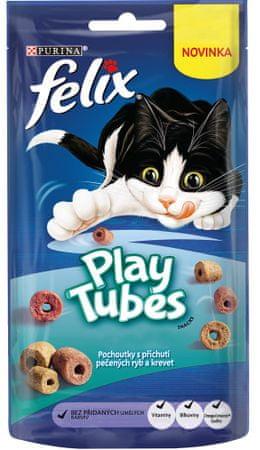 Felix przysmak dla kotów PlayTubes ryby i krewetki 8x50 g