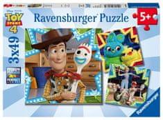 Ravensburger Puzzle 080670 Disney Toy Story 4, 3x49 dijelova