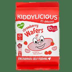 Kiddylicious Rýžové oplatky - Jahoda - 10 x 4g