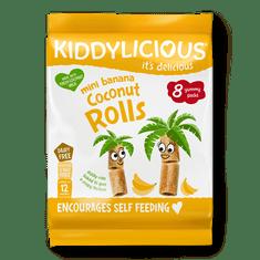 Kiddylicious Trubičky s kokosem a banánem - 5x54,4 g
