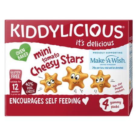 Kiddylicious Mini hvězdičky sýr a rajče 4x48 g