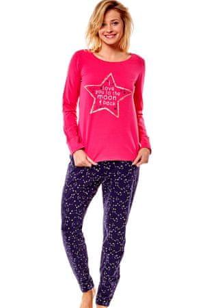 Henderson Női pizsama 36171 Moony 42x pink, rózsaszín, L