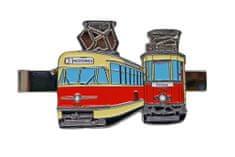 Dopravní spony Kravatová spona tramvaje T2 a Bovera