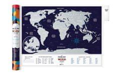 Stírací mapa světa Travel Map of the World Holiday