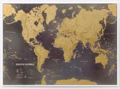 Stírací mapa světa Scratch the World Gold Edition
