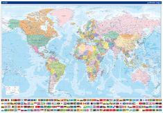 Svět - nástěnná politická mapa 134 x 95 cm - česky