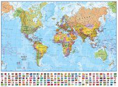 Maps International Svět - nástěnná politická mapa 100 x 73 cm - česky