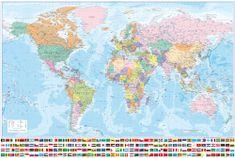 Svět - nástěnná politická mapa 194 x 132 cm - česky