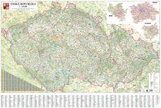 Česká republika - nástěnná automapa 135 x 90 cm