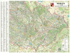 Morava - nástěnná automapa 140 x 100 cm