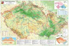 Česká republika - nástěnná obecně zeměpisná mapa 140 x 100 cm