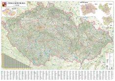 Česká republika - nástěnná automapa 200 x 140 cm