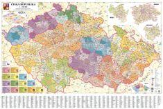 Česká republika - nástěnná administrativní mapa 135 x 90 cm