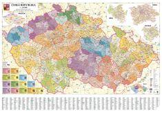 Česká republika - nástěnná administrativní mapa 200 x 140 cm