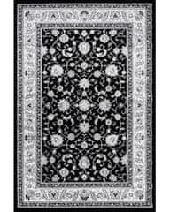 KJ-Festival Teppiche AKCE: 80x150 cm Kusový koberec Silkway F466A Black