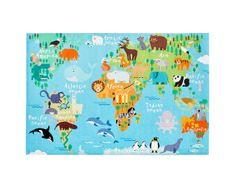 Obsession Dětský kusový koberec Torino kids 233 WORLD MAP